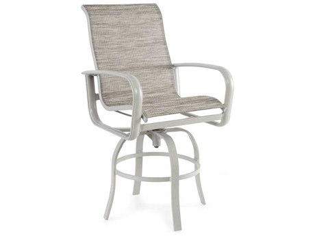 Winston Savoy Sling Aluminum Arm Swivel Bar Stool
