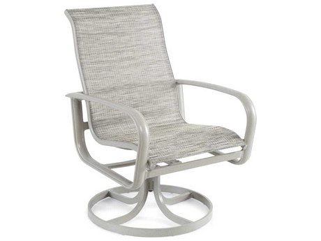 Winston Savoy Sling Aluminum High Back Swivel Tilt Dining Chair