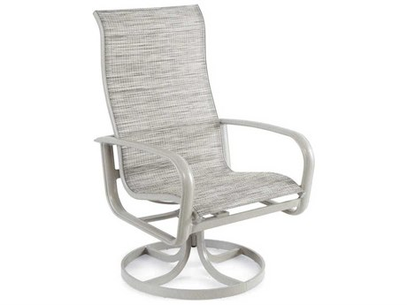 Winston Savoy Sling Aluminum Ultimate High Back Swivel Tilt Arm Dining Chair