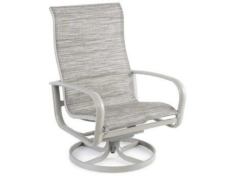 Winston Savoy Sling Aluminum Arm Swivel Tilt Lounge Chat Chair
