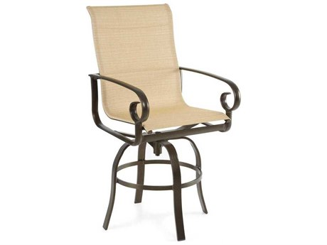 Winston Veneto Sling Cast Aluminum Side Swivel Bar Stool