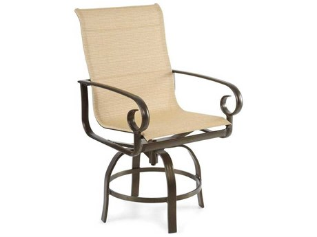 Winston Veneto Sling Cast Aluminum Arm Swivel Counter Stool