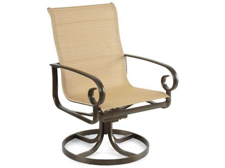 Winston Veneto Sling Cast Aluminum High Back Swivel Tilt Dining Chair