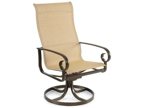 Winston Veneto Sling Cast Aluminum Ultimate High Back Swivel Tilt Dining Chair