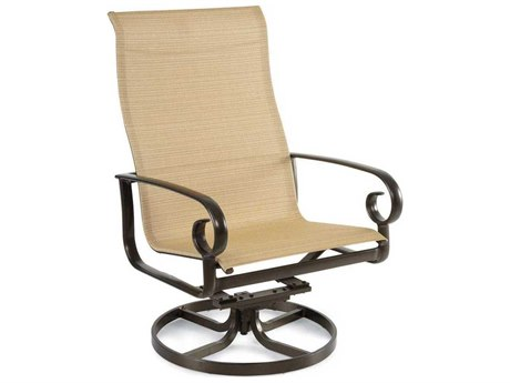 Winston Veneto Sling Cast Aluminum Arm Swivel Lounge Chair
