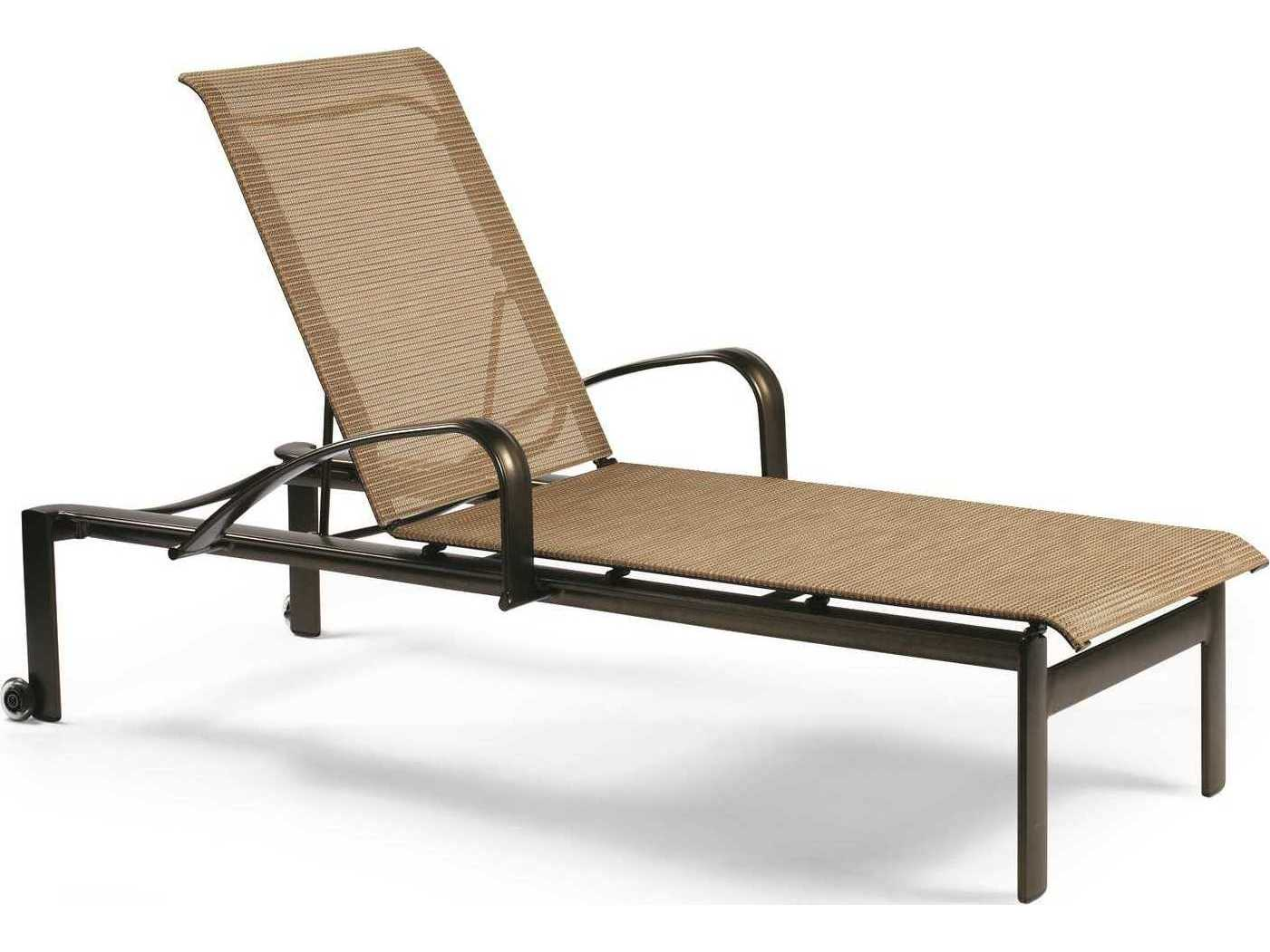 Winston Belvedere Sling Aluminum Stackable Chaise Lounge