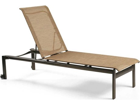 Winston Belvedere Sling Aluminum Stackable Chaise Lounge with Wheels