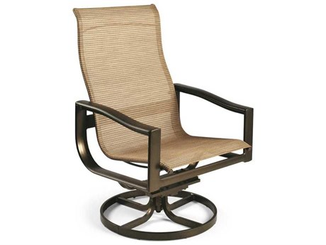 Winston Belvedere Sling Aluminum High Back Swivel Tilt Chair