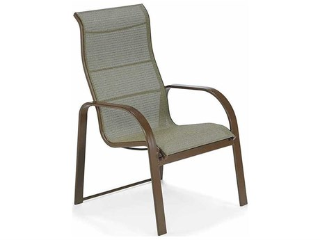 Winston Seagrove II Sling Aluminum Ultimate High Back Dining Chair PatioLiving