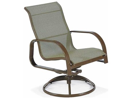 Winston Seagrove II Sling Aluminum High Back Swivel Tilt Chair PatioLiving