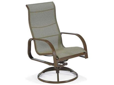 Winston Seagrove II Sling Aluminum Ultimate High Back Swivel Tilt Chair PatioLiving