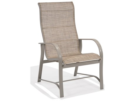 Winston Mayfair Sling Aluminum Ultimate High Back Arm Dining Chair