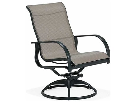Winston Mayfair Sling Aluminum High Back Swivel Tilt Arm Dining Chair