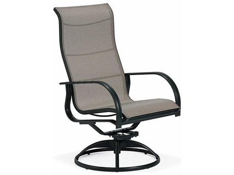 Winston Mayfair Sling Aluminum Ultimate High Back Swivel Tilt Arm Dining Chair