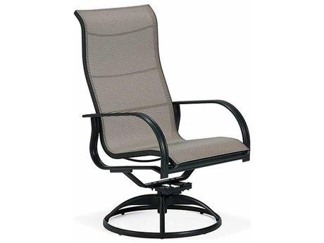 Winston Mayfair Sling Aluminum Ultimate High Back Swivel Tilt Arm Dining Chair WSM65059