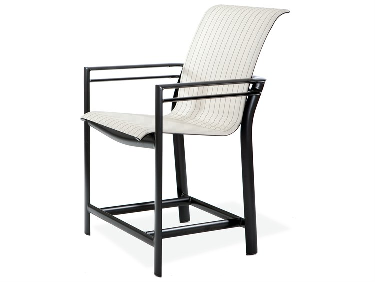 Winston Southern Cay Sling Aluminum Arm Counter Stool PatioLiving