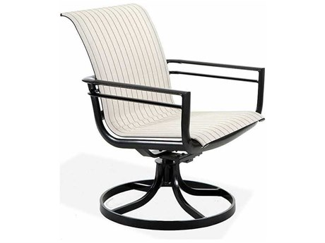 Winston Southern Cay Sling Aluminum High Back Swivel Tilt Dining Chair PatioLiving