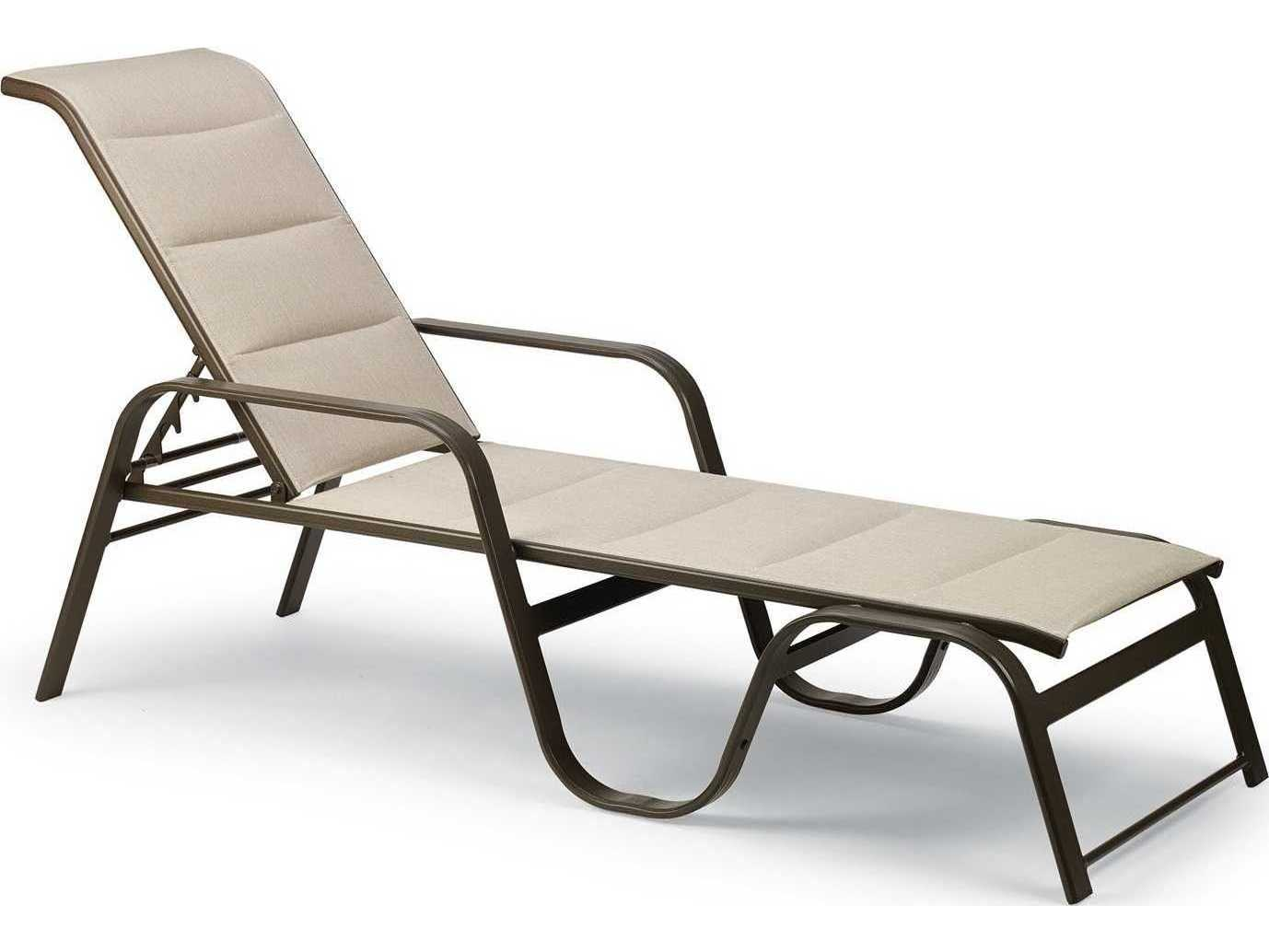 Winston Palazzo Sling Cast Aluminum Arm Chaise Lounge: Winston Key West Padded Sling Aluminum Stackable Chaise