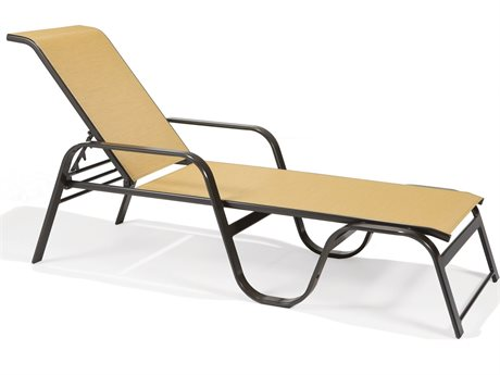 Winston Key West Sling Aluminum Arm Stackable Chaise Lounge PatioLiving