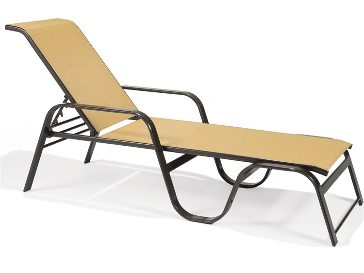 Winston Palazzo Sling Cast Aluminum Arm Chaise Lounge: Winston Key West Sling Aluminum Arm Stackable Chaise