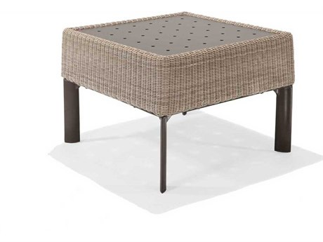 Winston Banyan Bay Wicker 24'' Square End Table with Stamp Top