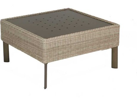 Winston Banyan Bay Wicker 32.5'' Square Cocktail Table with Stamp Top