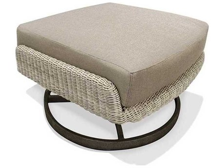 Winston Banyan Bay Cushion Wicker Pedestal Ottoman