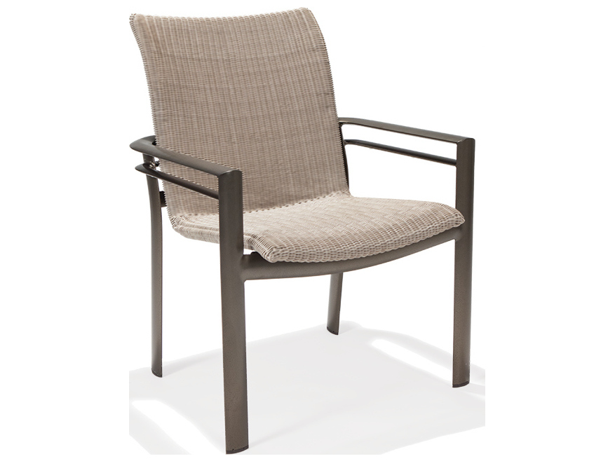 Winston Southern Cay Woven Aluminum High Back Dining Chair