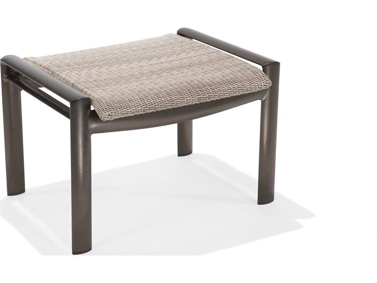 Winston Southern Cay Sling Aluminum Armless Chaise Lounge: Winston Southern Cay Woven Aluminum Ottoman