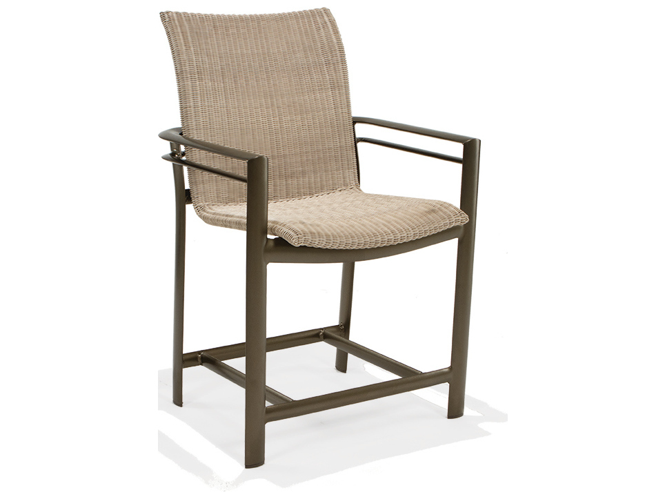 Winston Southern Cay Sling Aluminum Armless Chaise Lounge: Winston Southern Cay Woven Aluminum Balcony Height Stool