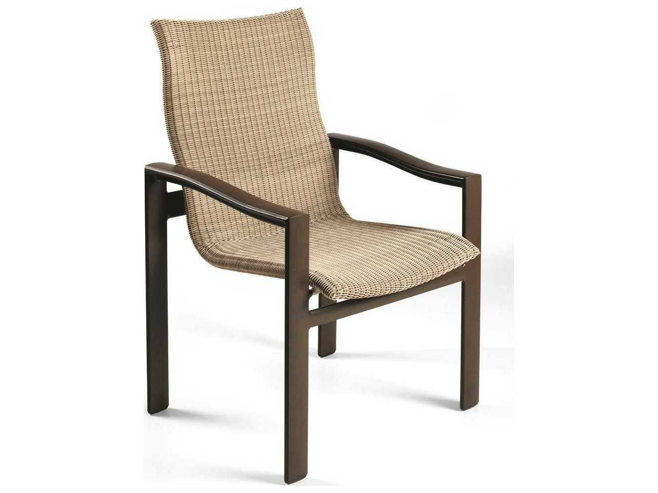 Winston Belvedere Woven Aluminum High Back Dining Chair