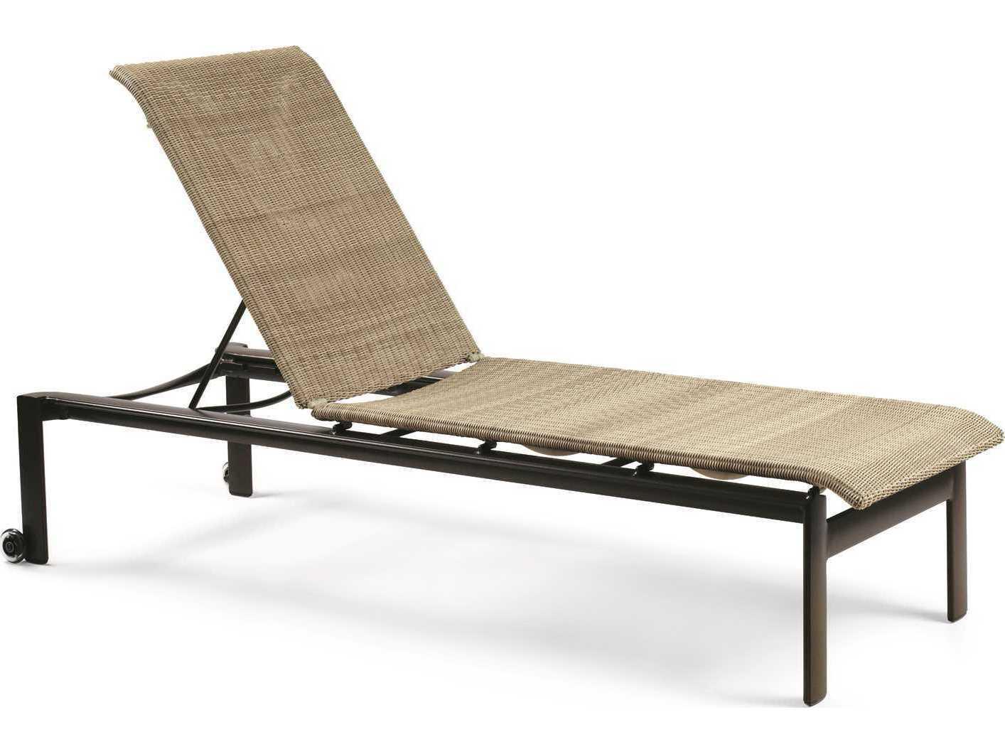 Winston belvedere woven aluminum stackable chaise lounge for Chaise longue textilene alu
