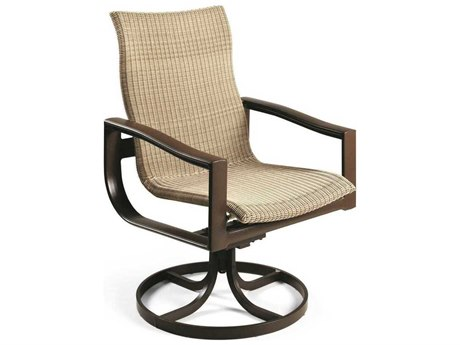 Winston Belvedere Woven Aluminum High Back Swivel Tilt Chair