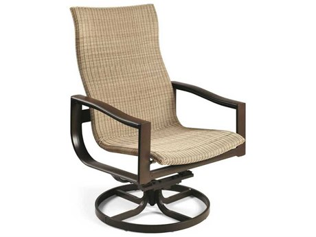 Winston Belvedere Woven Aluminum Swivel Tilt Chat Chair