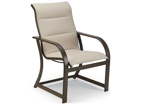 Padded Sling Aluminum High Back Dining Chair