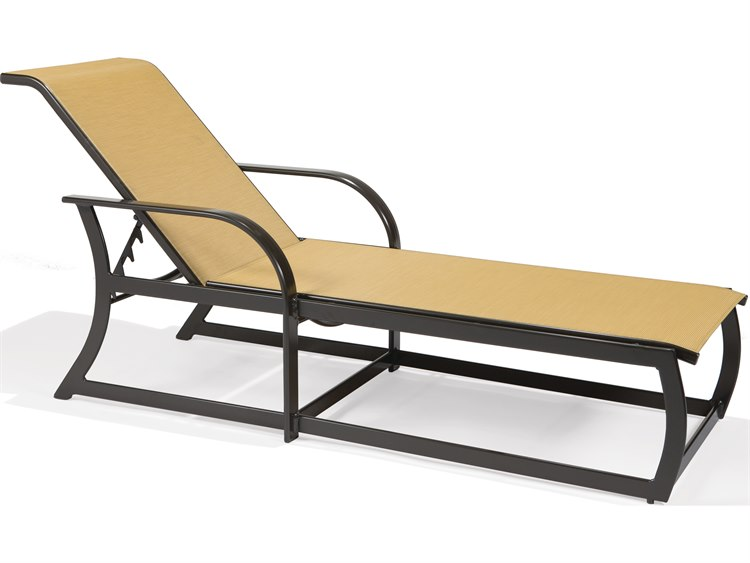 Winston Palazzo Sling Cast Aluminum Arm Chaise Lounge: Winston Key West Sling Aluminum Arm Chaise Lounge