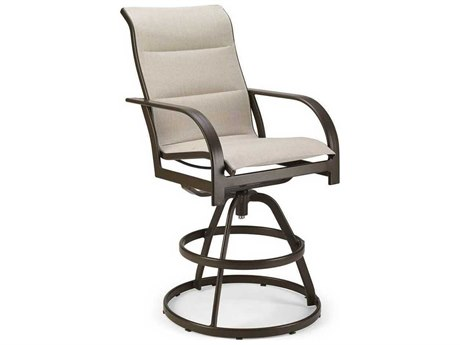 Padded Sling Aluminum Swivel Bar Stool