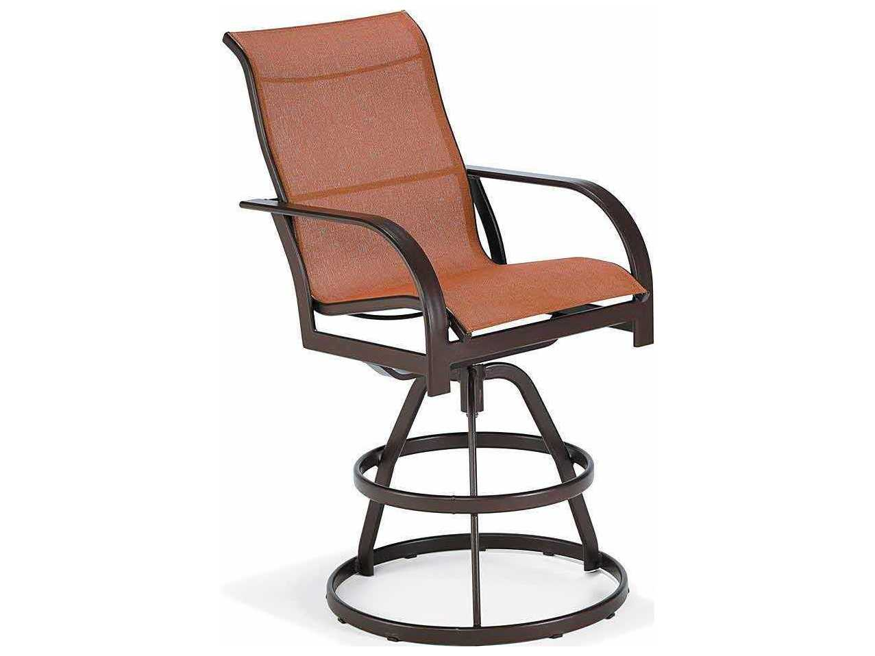 Image of: Winston Key West Sling Aluminum Arm Swivel Bar Stool Wsm8013r