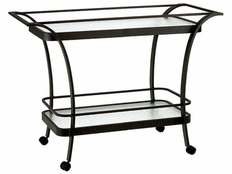 Winston Obscure Glass Aluminum 50.5 x 18.75 Rectangular Serving Cart WSM8020G