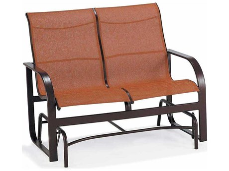Winston Key West Sling Aluminum Arm Glider Loveseat