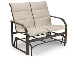 Key West Padded Sling Aluminum Loveseat Glider