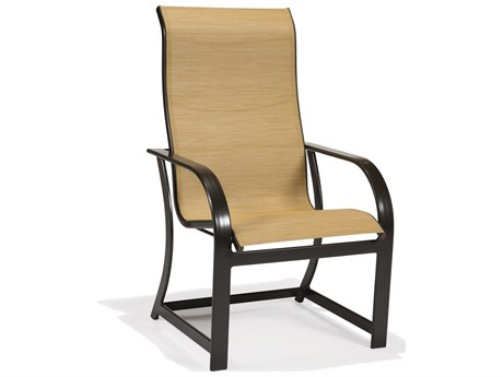 Winston Key West Sling Aluminum Ultimate High Back Dining Chair PatioLiving