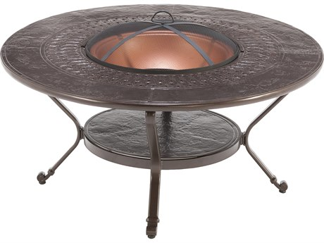 Winston Firepit Cast Aluminum 48'' Round Metal Fire Pit Table