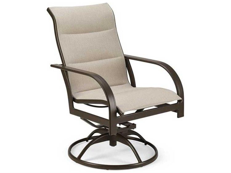 Winston Key West Padded Sling Aluminum High Back Swivel Tilt Chair PatioLiving