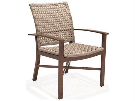 Winston Jasper Woven Aluminum Dining Arm Chair