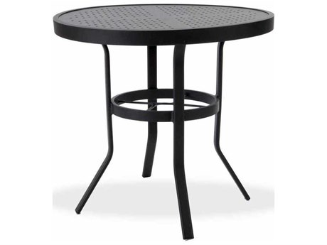 Winston Stamped Aluminum 30'' Round Metal Dining Table WSM8130ST