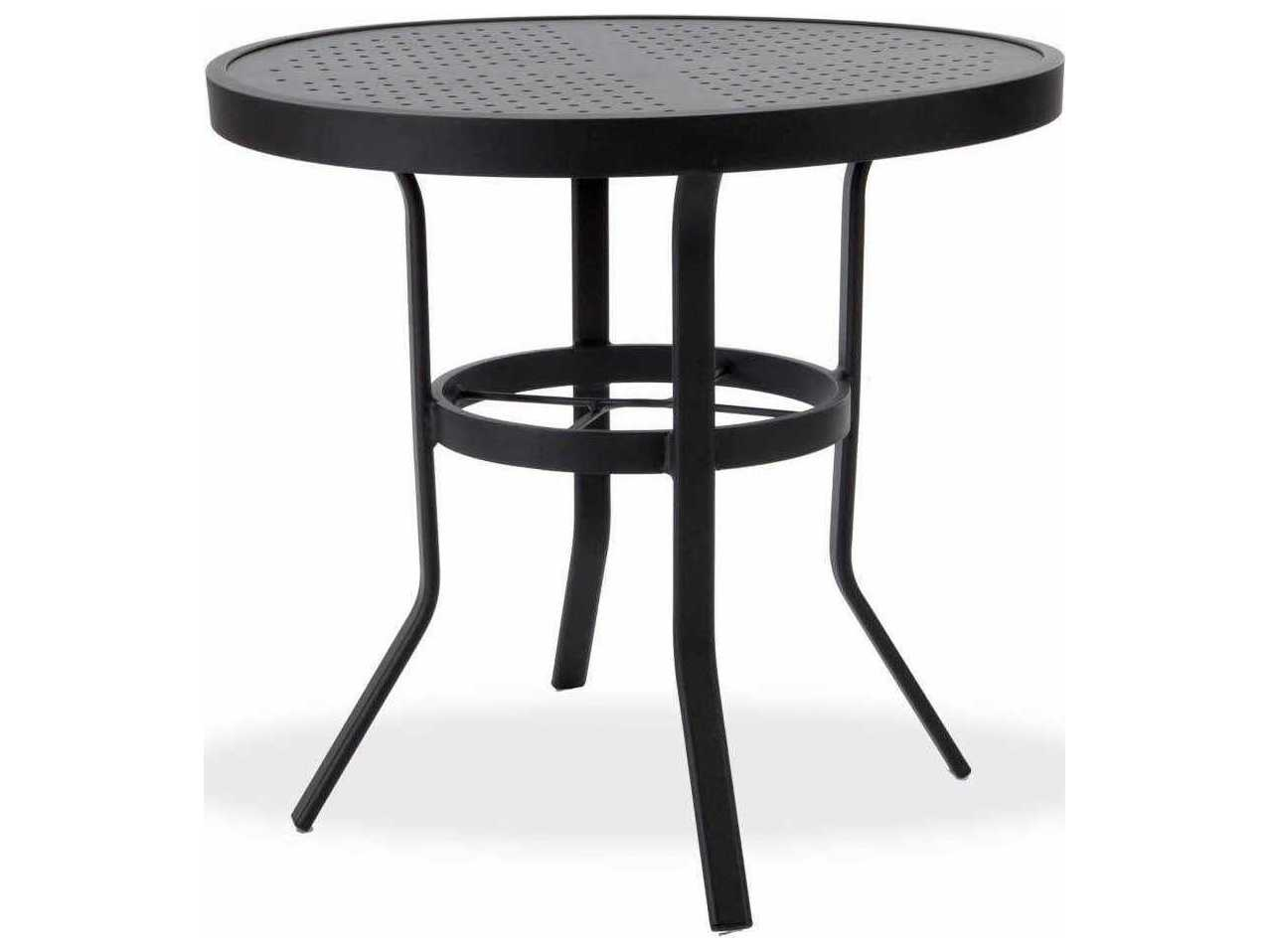 winston stamped aluminum 30 39 39 round metal dining table m8130st. Black Bedroom Furniture Sets. Home Design Ideas