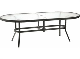 76'' x 42'' Oval Dining Table with Umbrella Hole