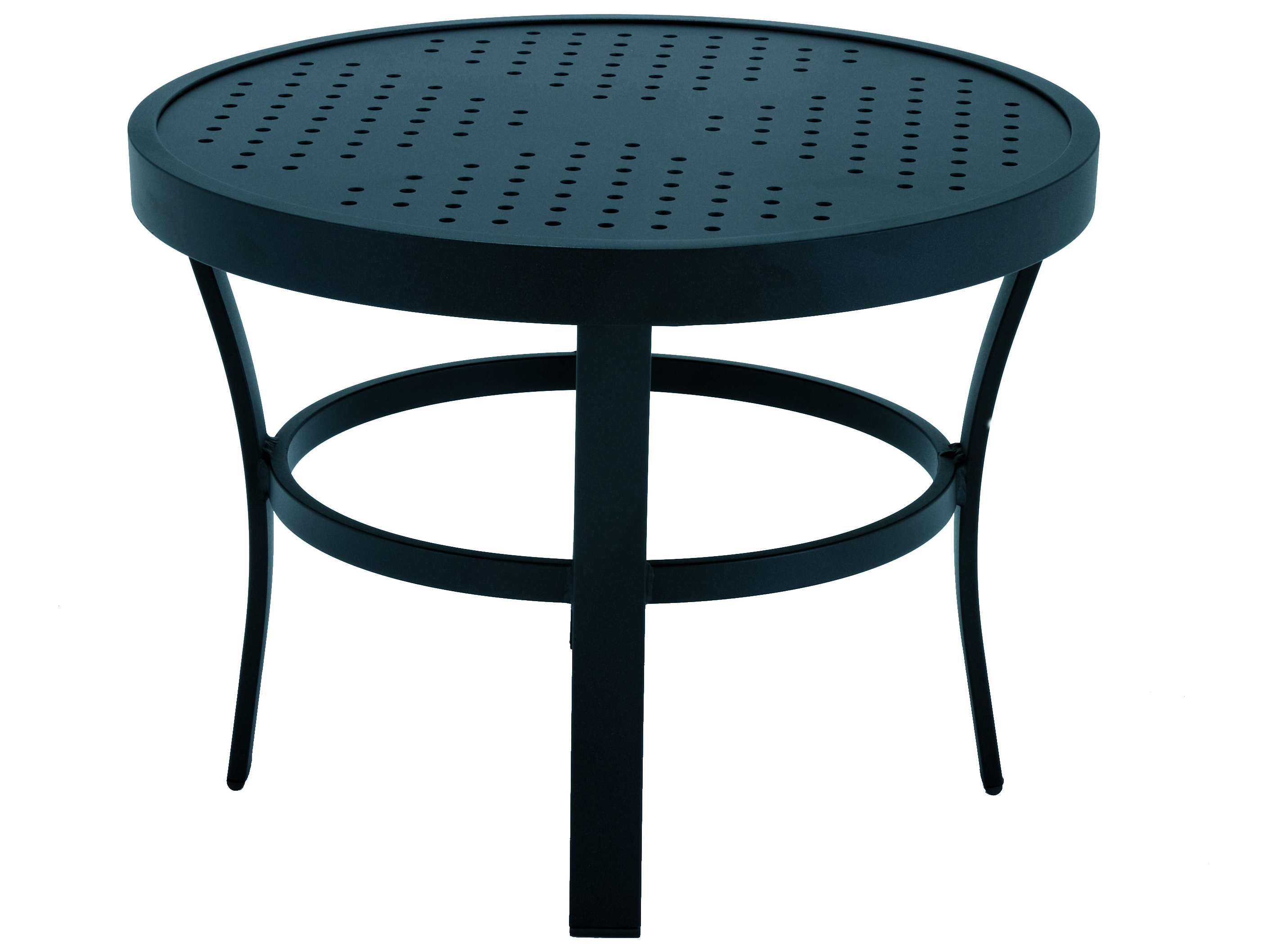 Winston Stamped Aluminum 24'' Round Metal End Table