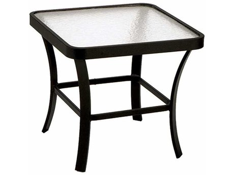 Winston Obscure Glass Aluminum 24.5'' Square End Table